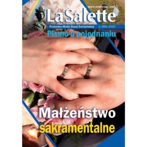 """Okładka PMBS """"LaSalette"""" 2020-3 Małżeństwo sakramentalne"""